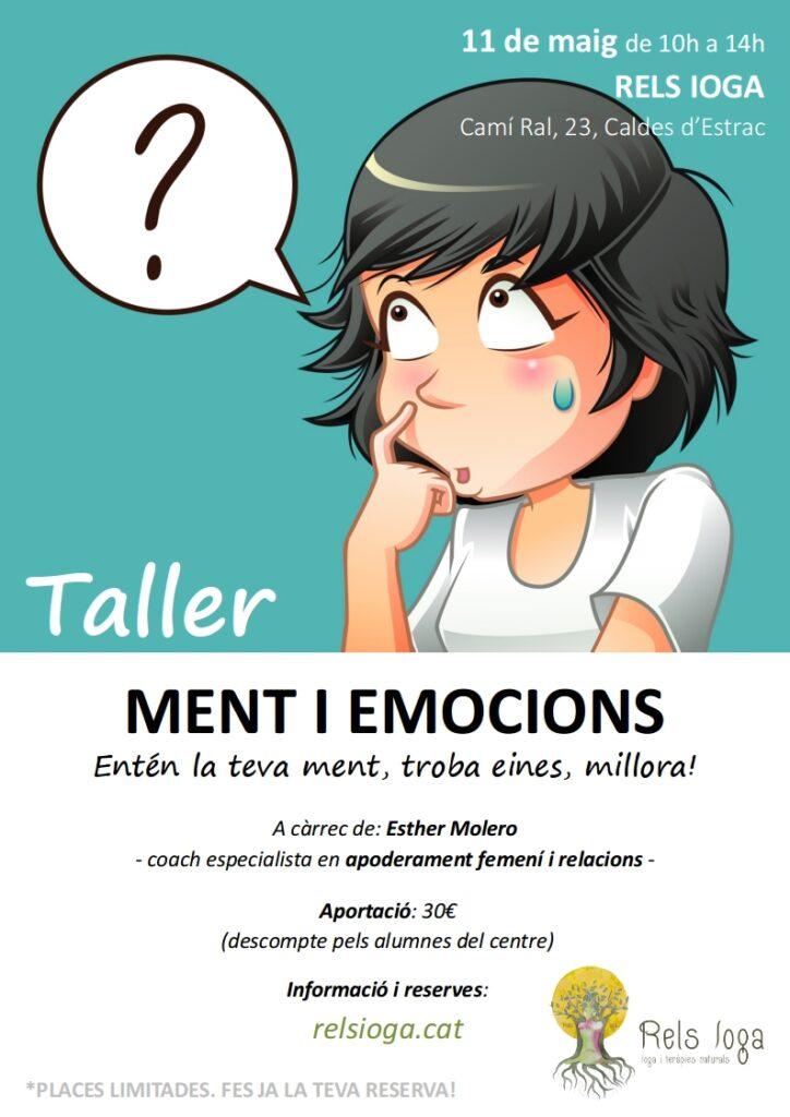 Taller emocions | RELS IOGA | yoga, terapias, nutrición | Caldes d'Estrac (Caldetes) Maresme (Barcelona)