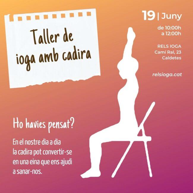 Taller ioga amb cadira | RELS IOGA
